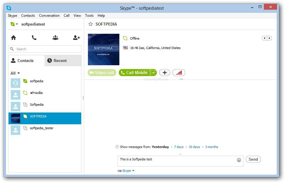 Skype for Windows desktop in action