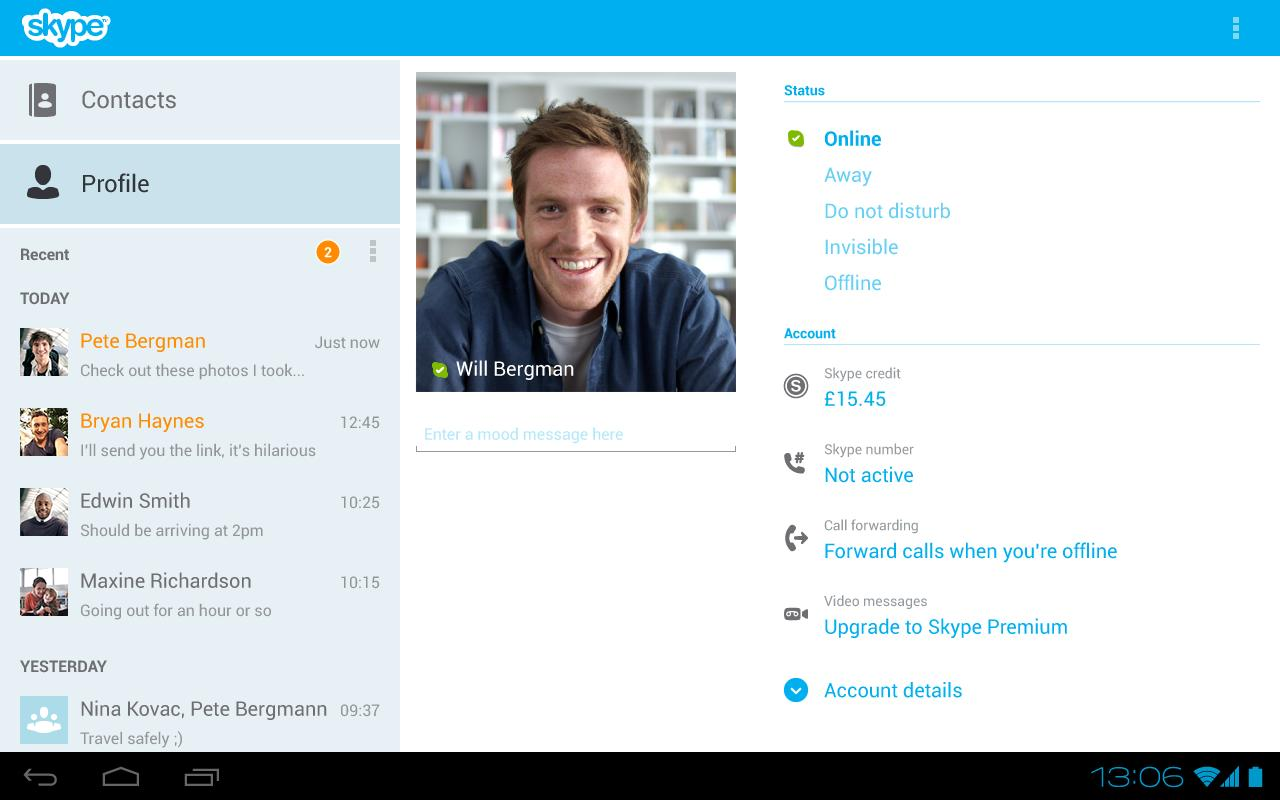 Skype for Android 4.3 Brings Support for 14 New Languages