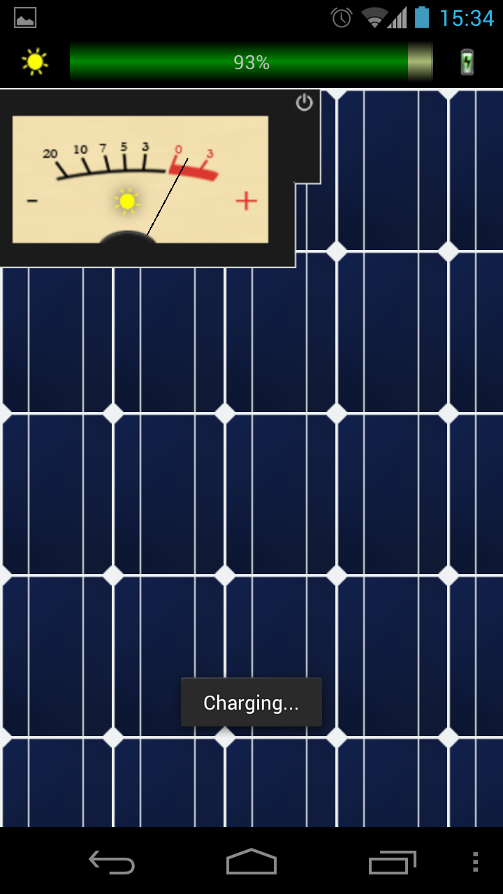 Solar Charger App Available for Android Just for Fun
