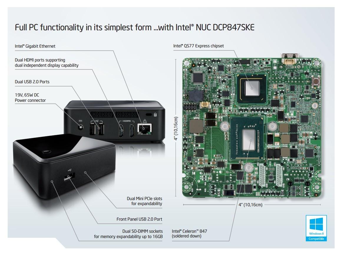 Intel DCP847SKE NUC Board Treiber Windows 10