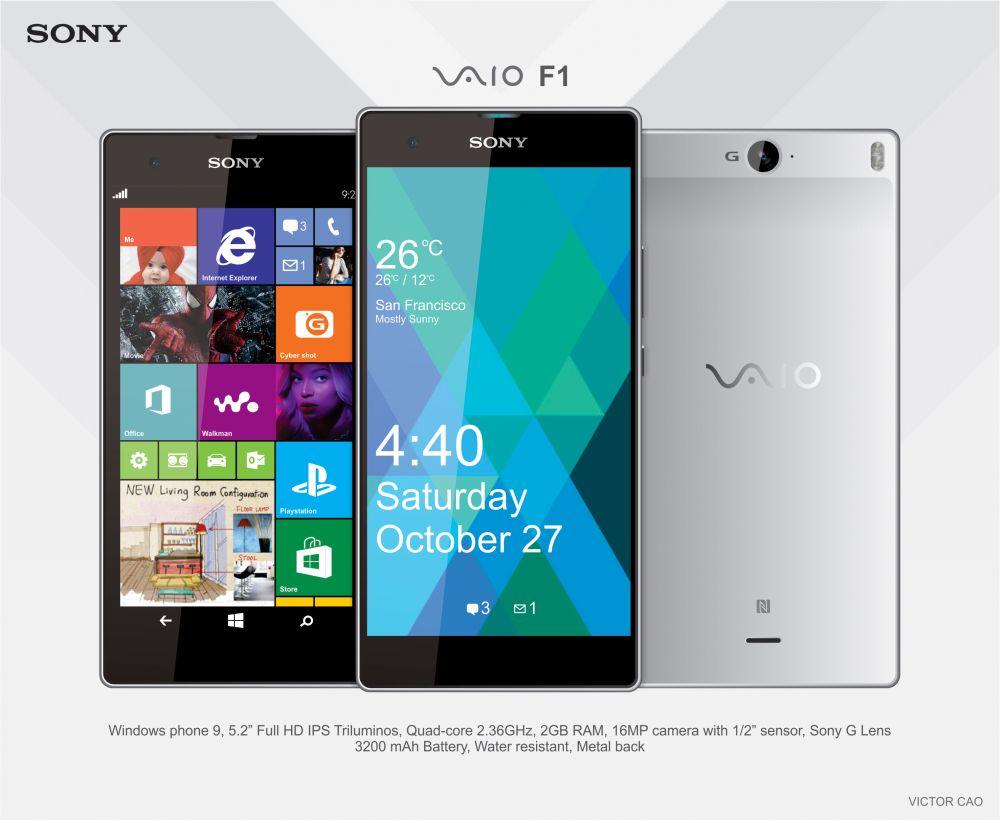 Sony Vaio F1 Concept Device Runs Windows Phone 9