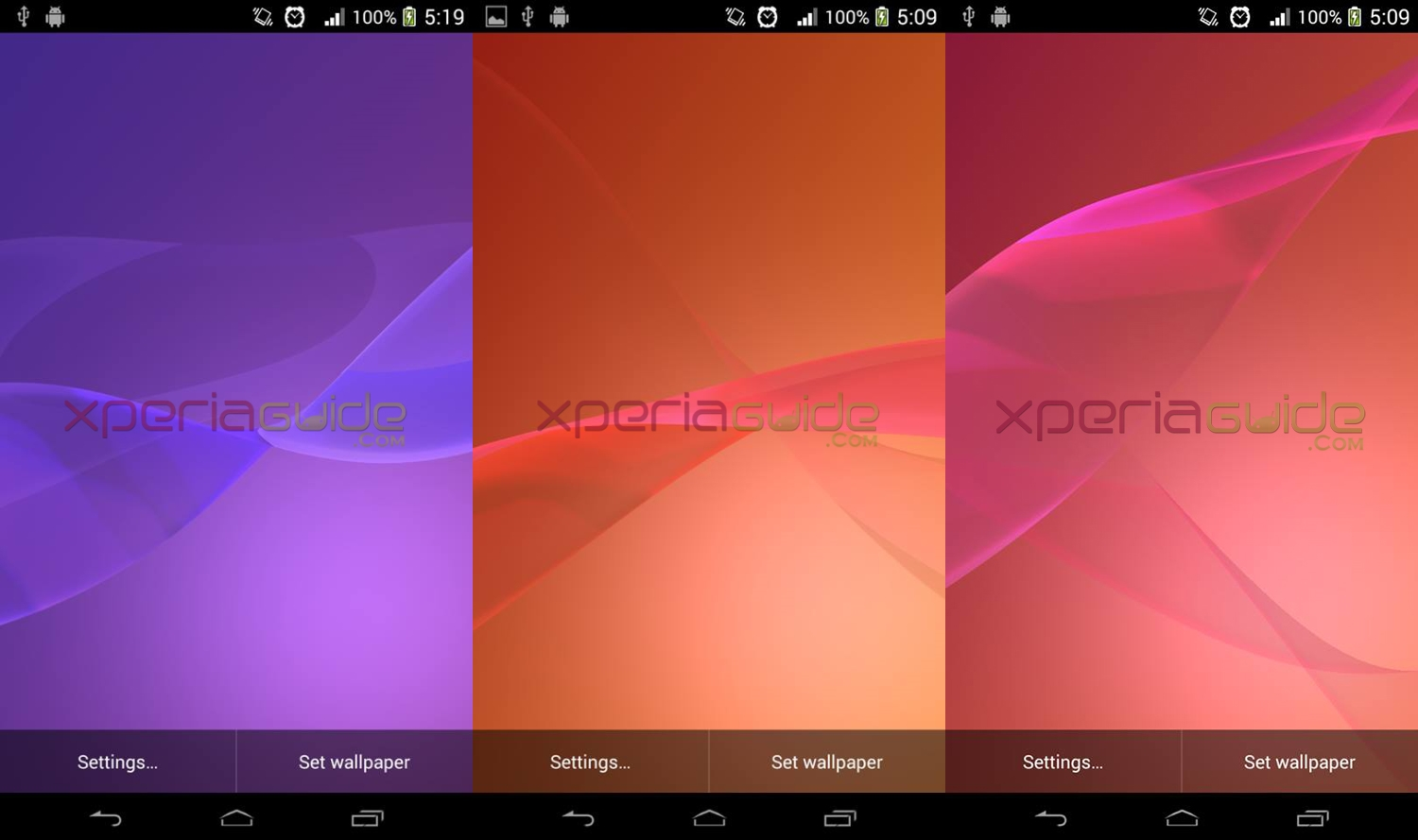 Sony Xperia Z2 Live Wallpapers