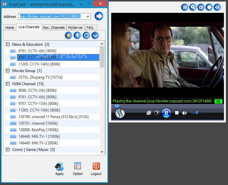 Download sopcast for windows 8 (32/64 bit) in english.
