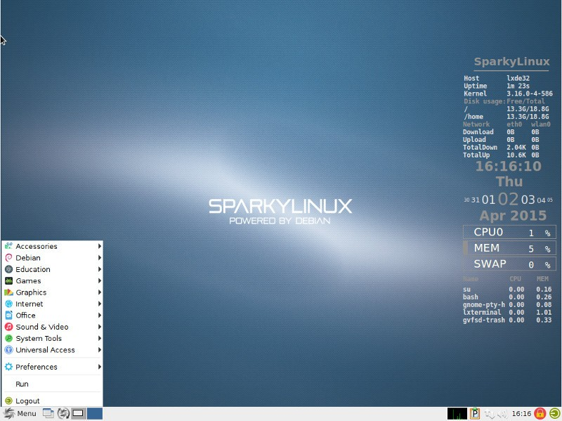 SparkyLinux 4 0 Will Have New Flat Theme and Iconset, Based
