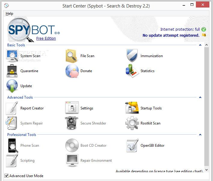 Spybot search destroy license key