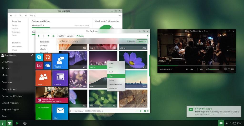 start menu transparency just makes sense in windows 10 design concept