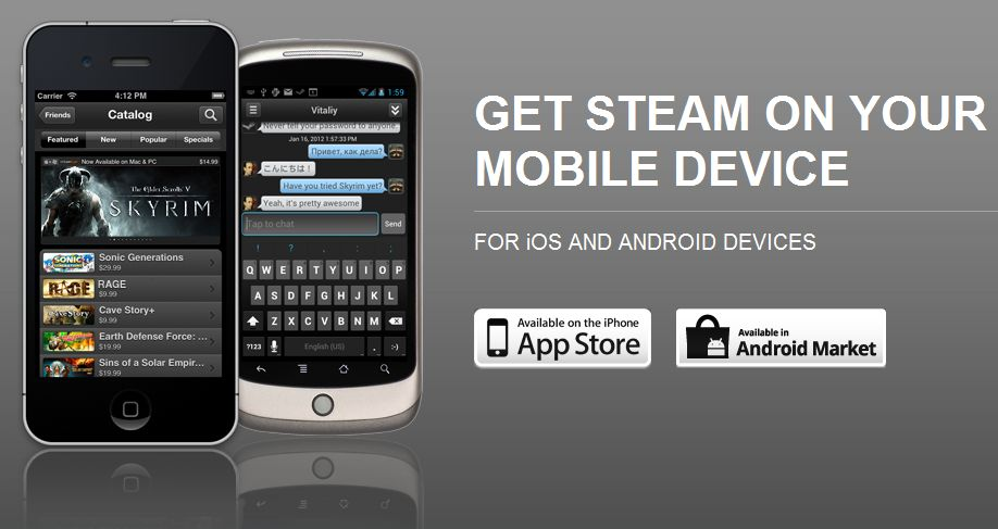 Steam Mobile App Now Available on iOS and Android