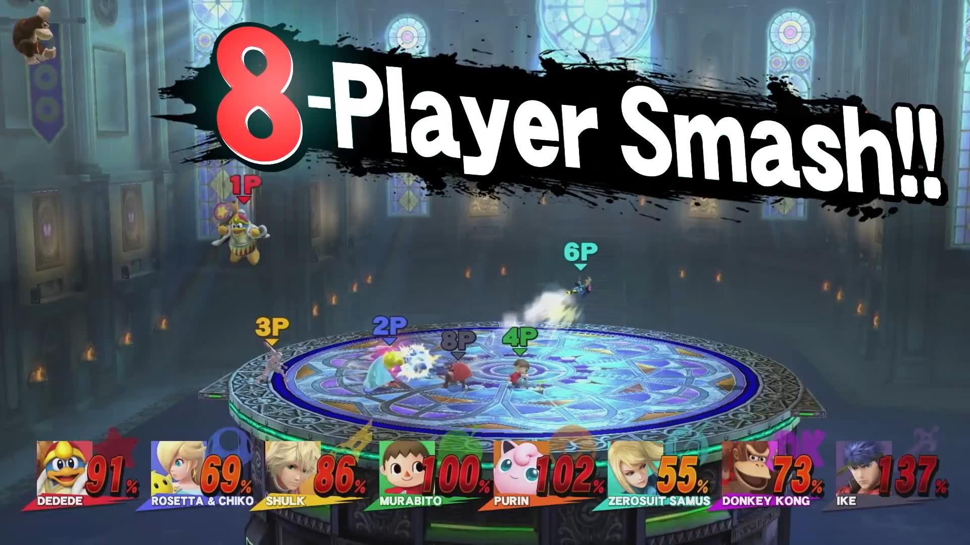 super smash bros for wii u gets 15 new stages for 8 player mode