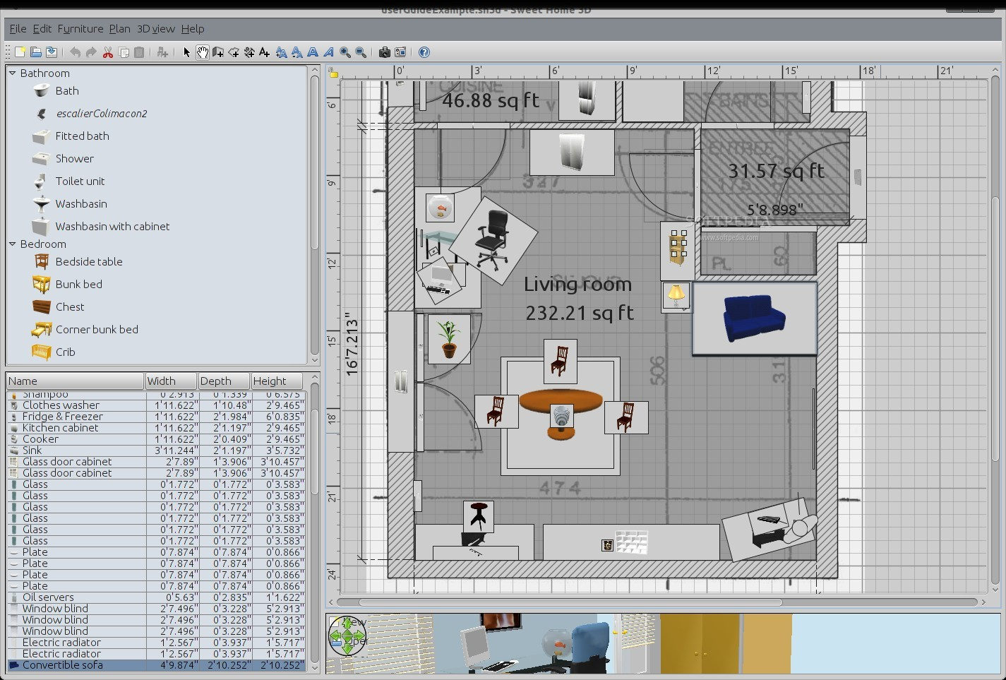 sweet home 3d sample plans. Black Bedroom Furniture Sets. Home Design Ideas