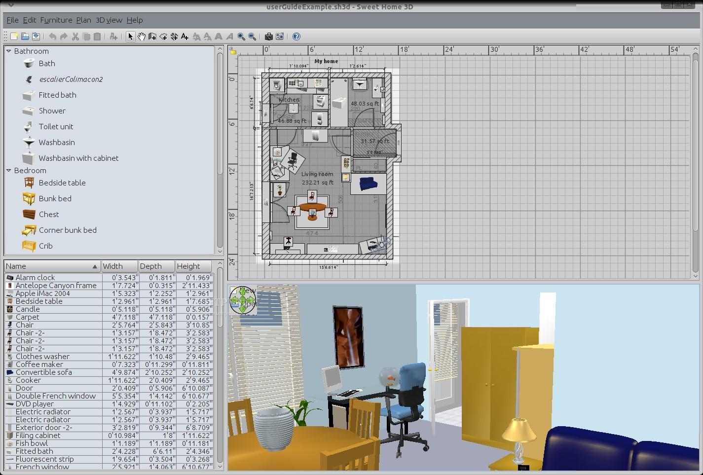 Sweet home 3d 3 2 review for Libreria arredamento sweet home 3d