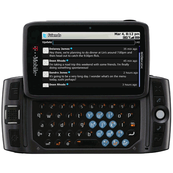 T Mobile Sidekick 4g Up On Pre Order At Wirefly