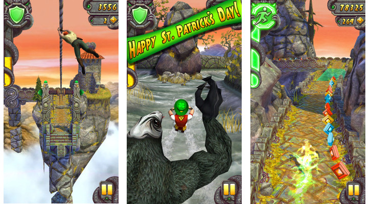 Temple Run 2 for Android Updated with Special St  Patrick's