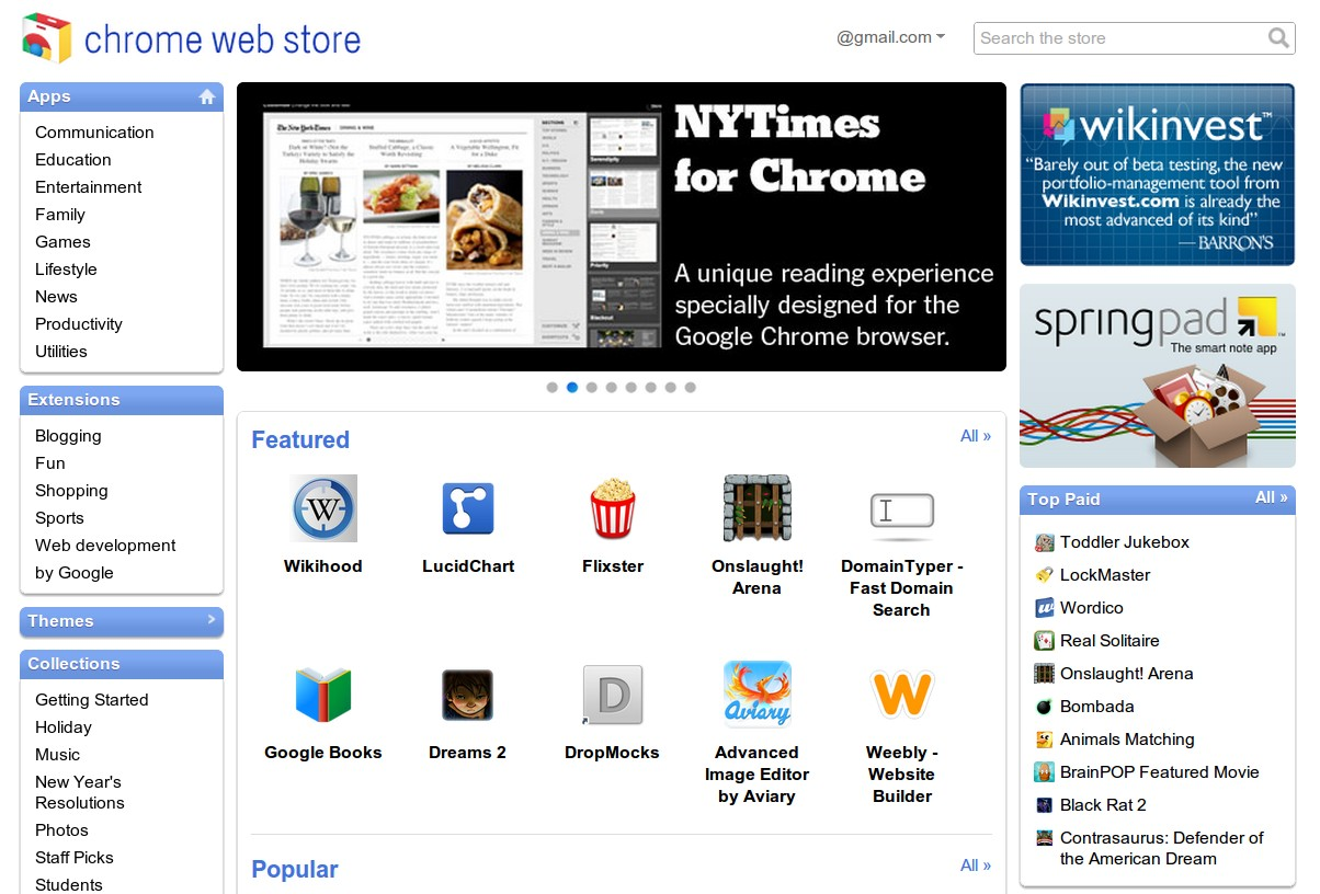 Google Webstore