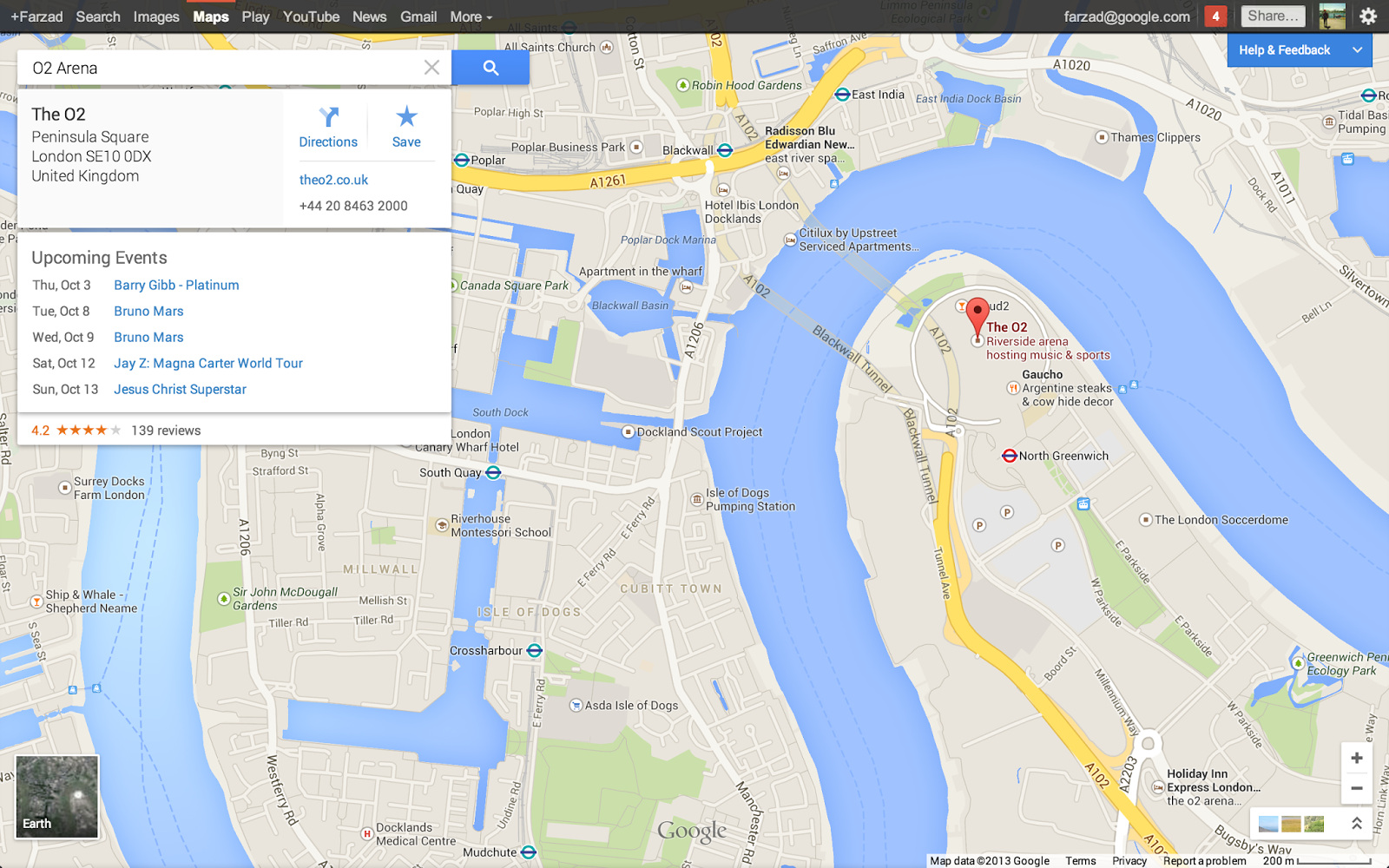 upcoming events in google maps