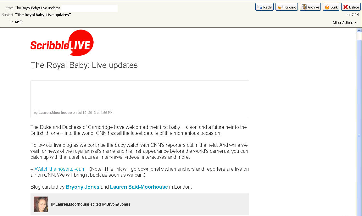 """""""The Royal Baby: Live Updates"""" Emails Used to Spread ZeuS ..."""