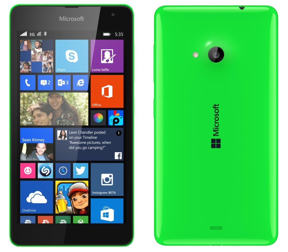 Microsoft Logo On The Back Of Lumia 535