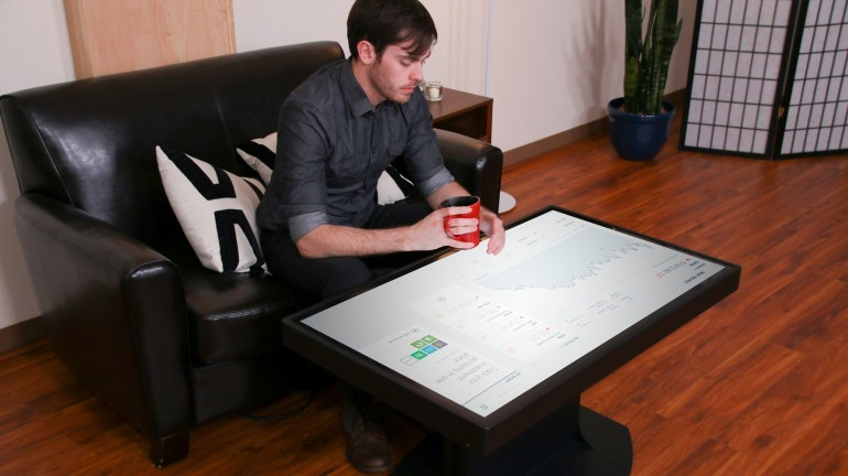 This Huge Coffee Table Can Switch Between Android And Windows No Joke - Android coffee table