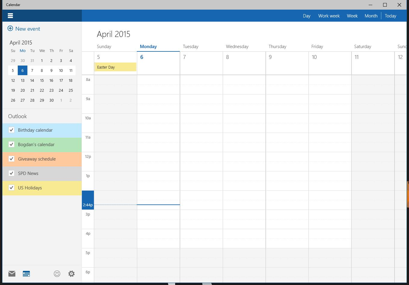 This Is the New Windows 10 Calendar App