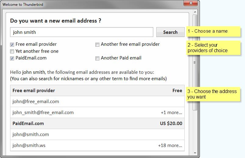 Thunderbird to Start Offering Email Addresses
