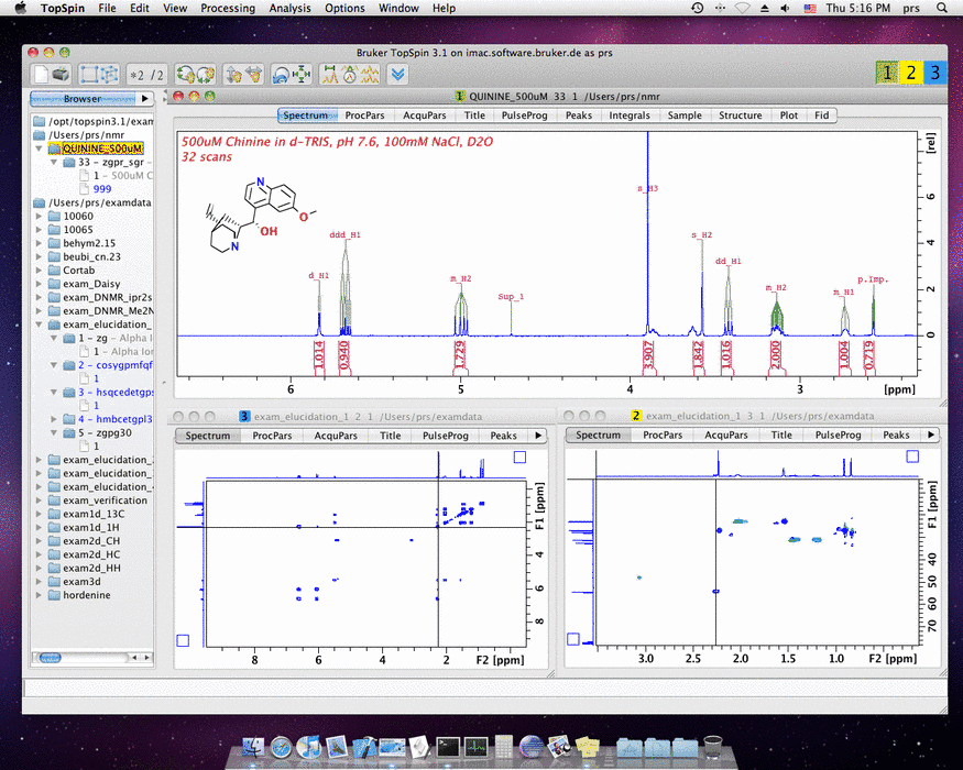 TopSpin NMR Software Ported to Mac OS X
