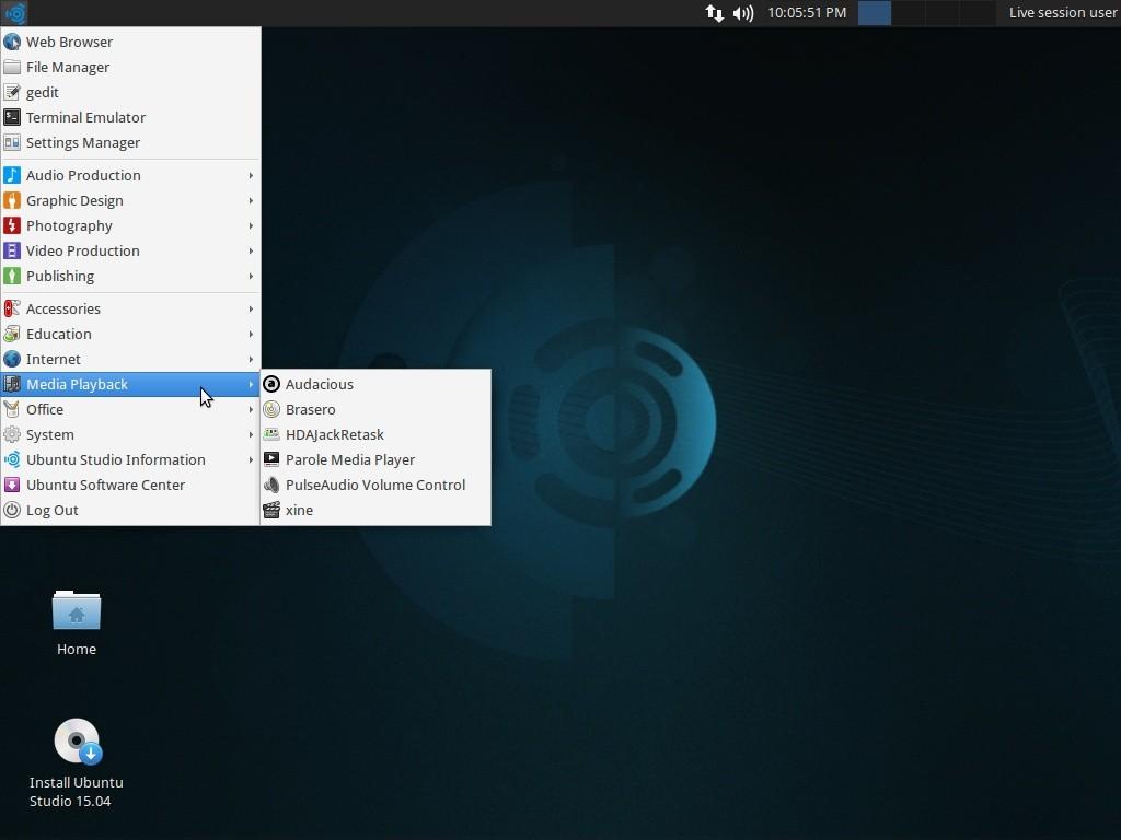 ubuntu home office. The Applications Menu - Media Playback Ubuntu Home Office O