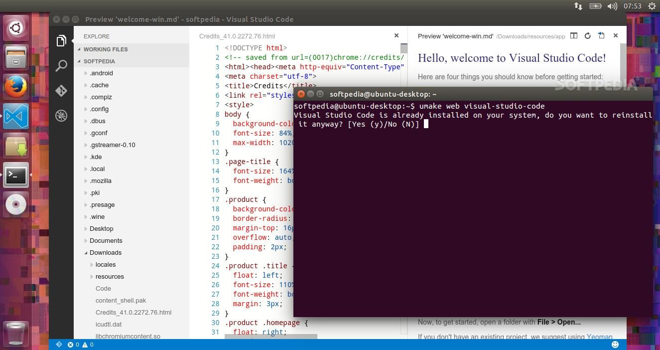 Ubuntu users can easily install visual studio code with ubuntu make 07 visual studio code in ubuntu 1504 stopboris Choice Image