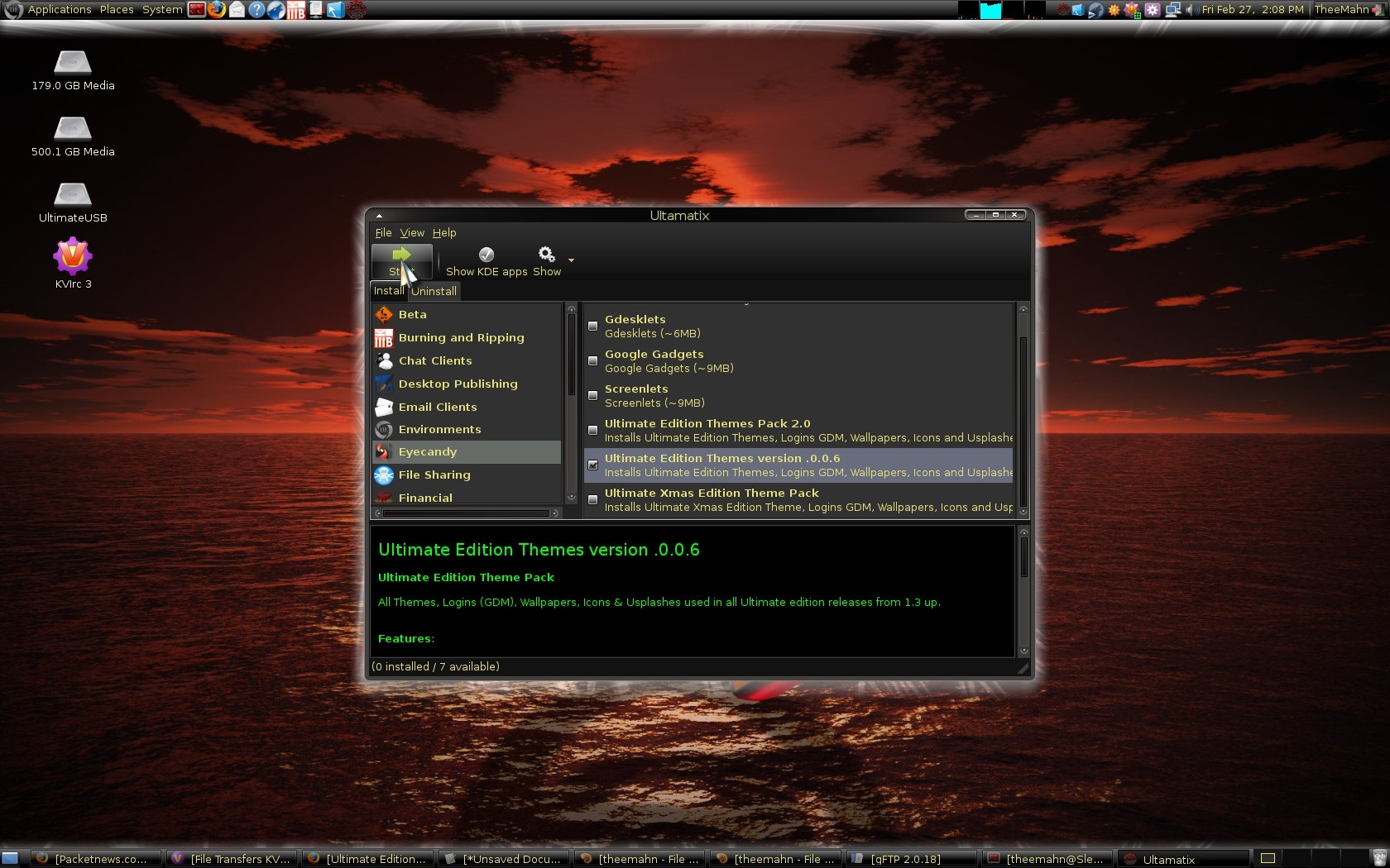 Ultimate edition linux: rough road to a nice destination.