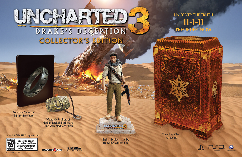 Uncharted 3 Gets Special Collector S Edition New Pre Order Bonuses