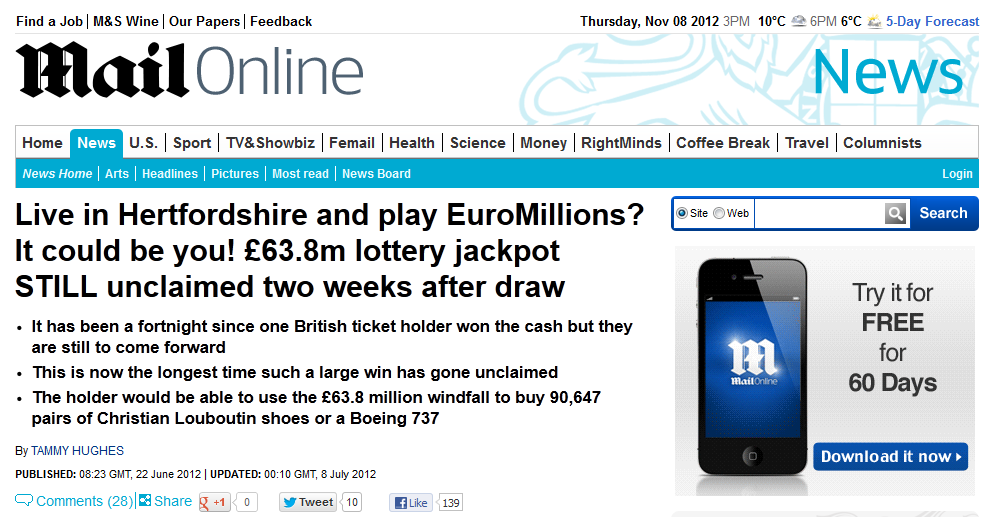 63 8m euro millions unclaimed prizes