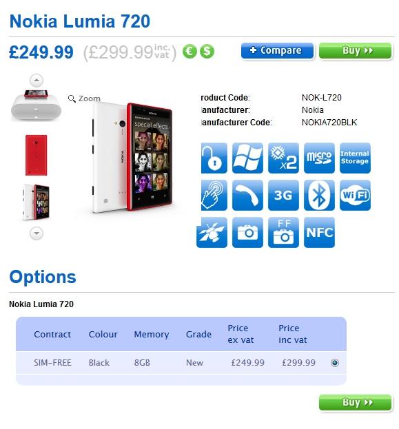 unlocked lumia 720 and lumia 520 expected in the uk on april 1 rh news softpedia com Nokia Lumia 620 Nokia Lumia 920