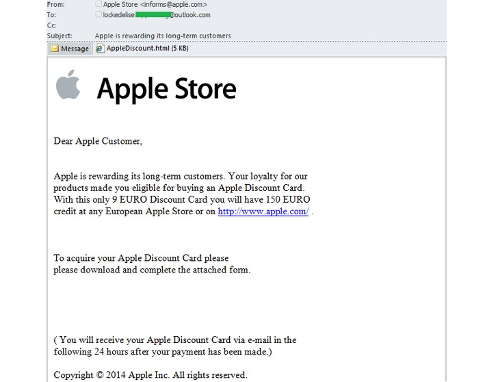 Apple Spam Mail