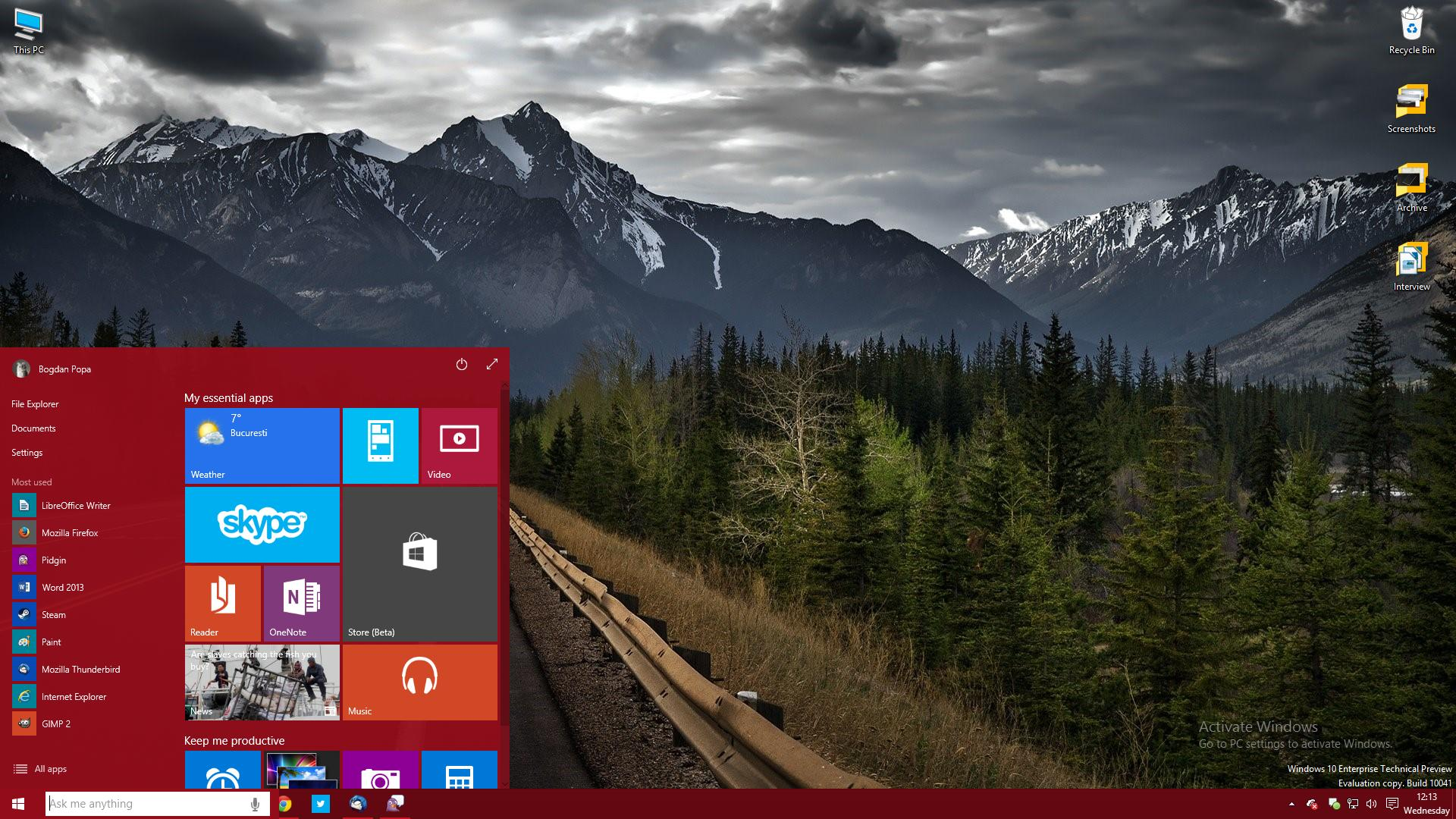 Windows 10 build 10041 isos now available for download windows 10 desktop windows 10 build 10041 ccuart Image collections
