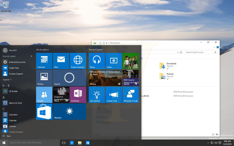 Windows 10 Build 10125 Screenshots Leaked