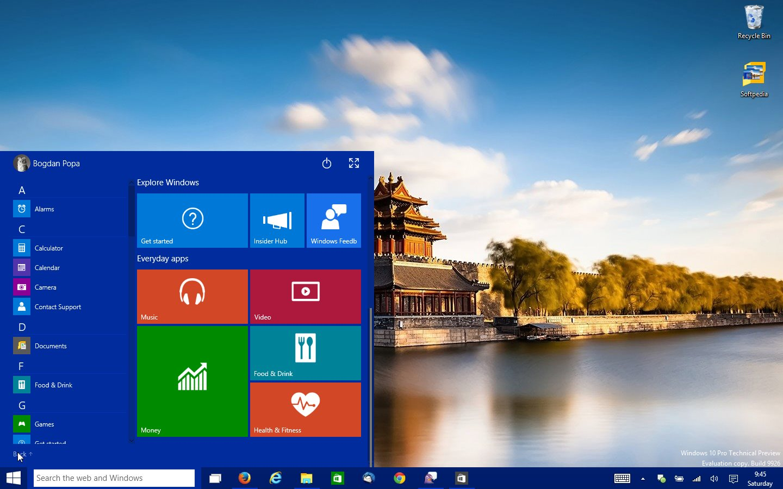 Windows 10 build 9926 screenshots windows 10 build 9926 ccuart Image collections