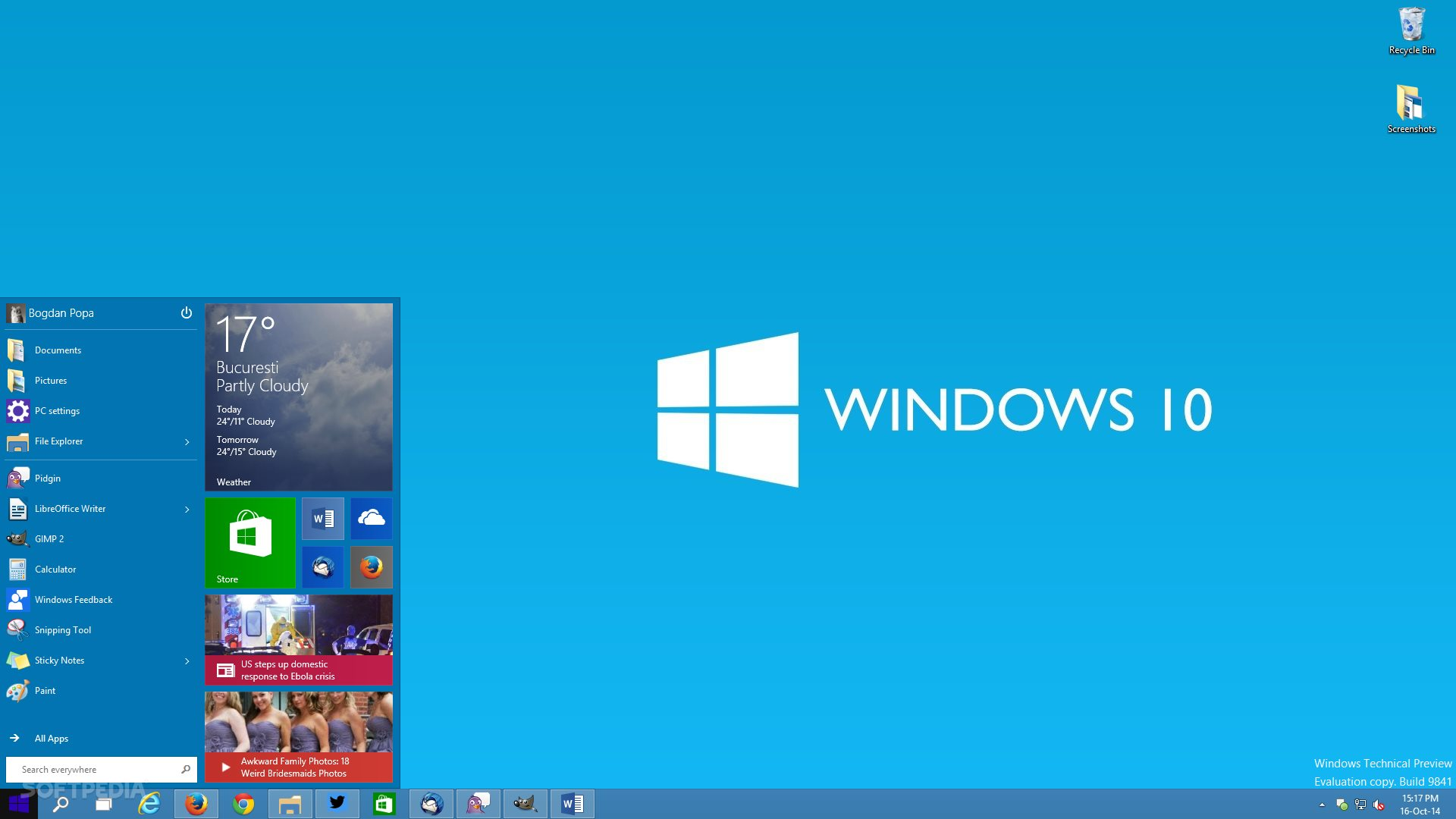 Windows 10 news microsoft might reveal tomorrow windows 10 brings back the start menu on the desktop ccuart Gallery
