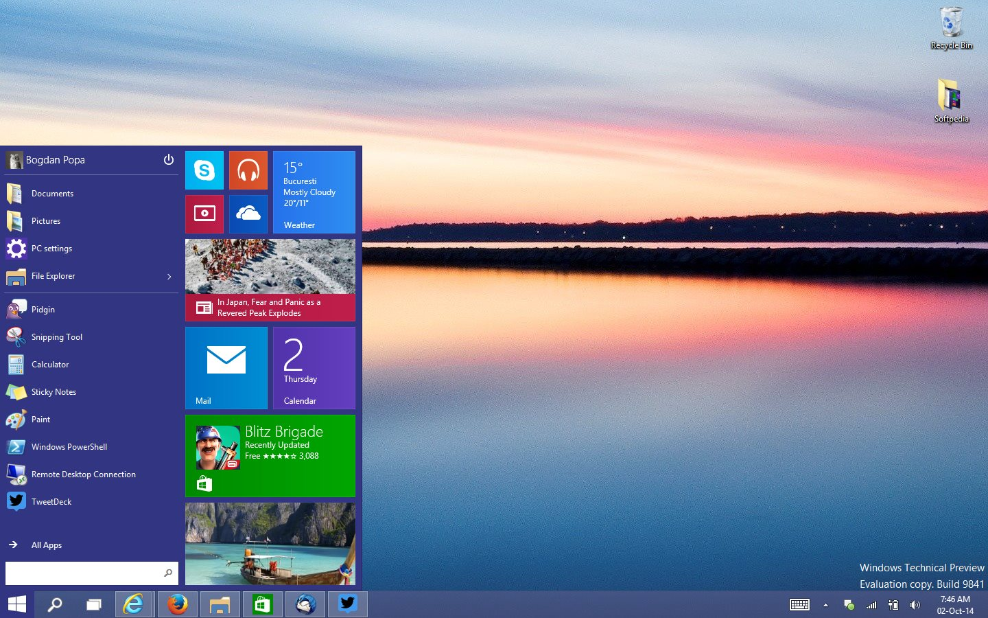 Windows 10 Preview Start Menu  Look And Features