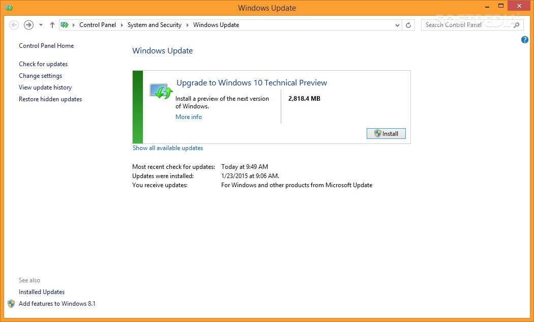 how to stop windows 8.1 update to windows 10