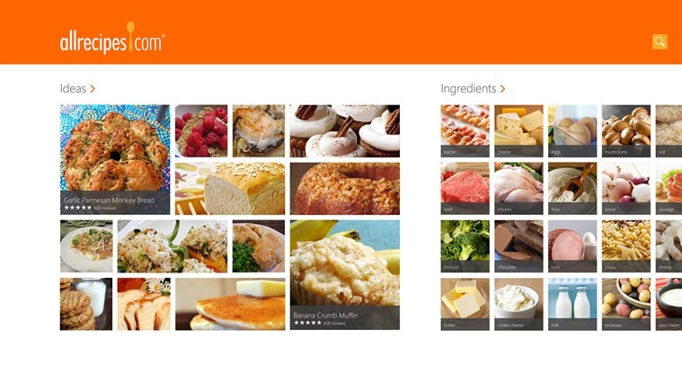Windows 8 app of the day allrecipes the app has an interface thats completely optimized for the touch forumfinder Gallery