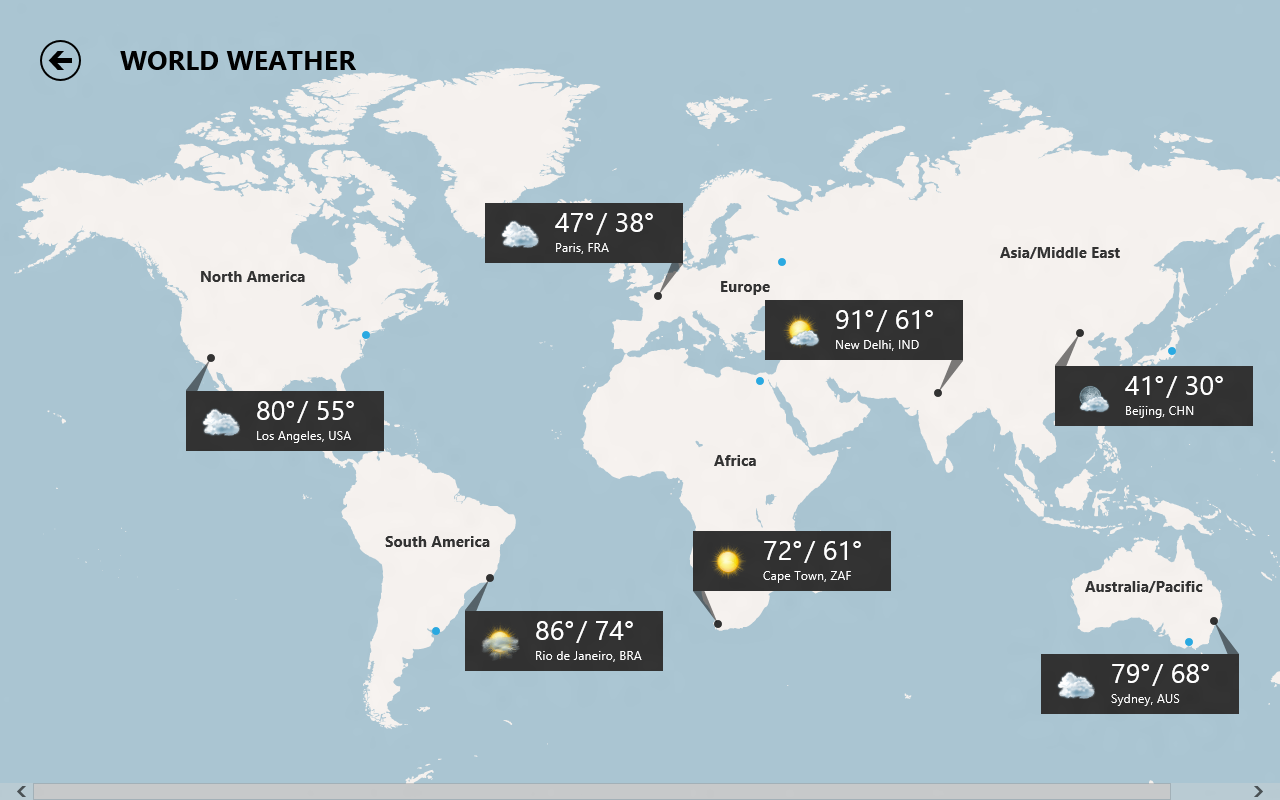 Windows 8 Consumer Preview: Bing Apps on current usa fire map, current us temperature map today, current usa drought, current temperature map united states, current world weather map, current us weather map, current temperatures in usa, usa temperature map, current map of united states, current weather by zip code, current temp map usa, current national weather service forecast map, current weather map for arizona, current high pressure map, current temperature in united states, current temperatures united states city, current temperature map of us, current weather temperature map, current brazil weather map, current jamaica weather map,