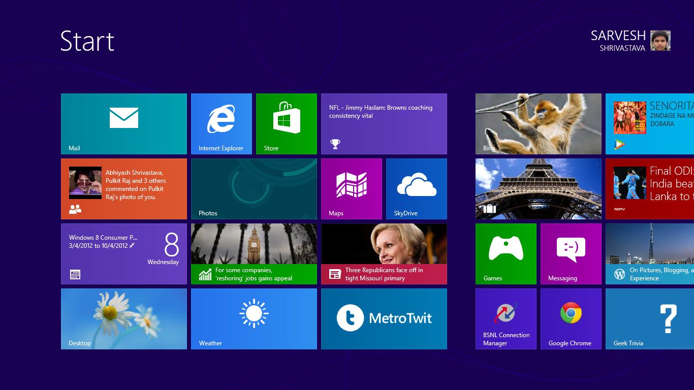 Windows 8 RTM Lock Screen and Start ...