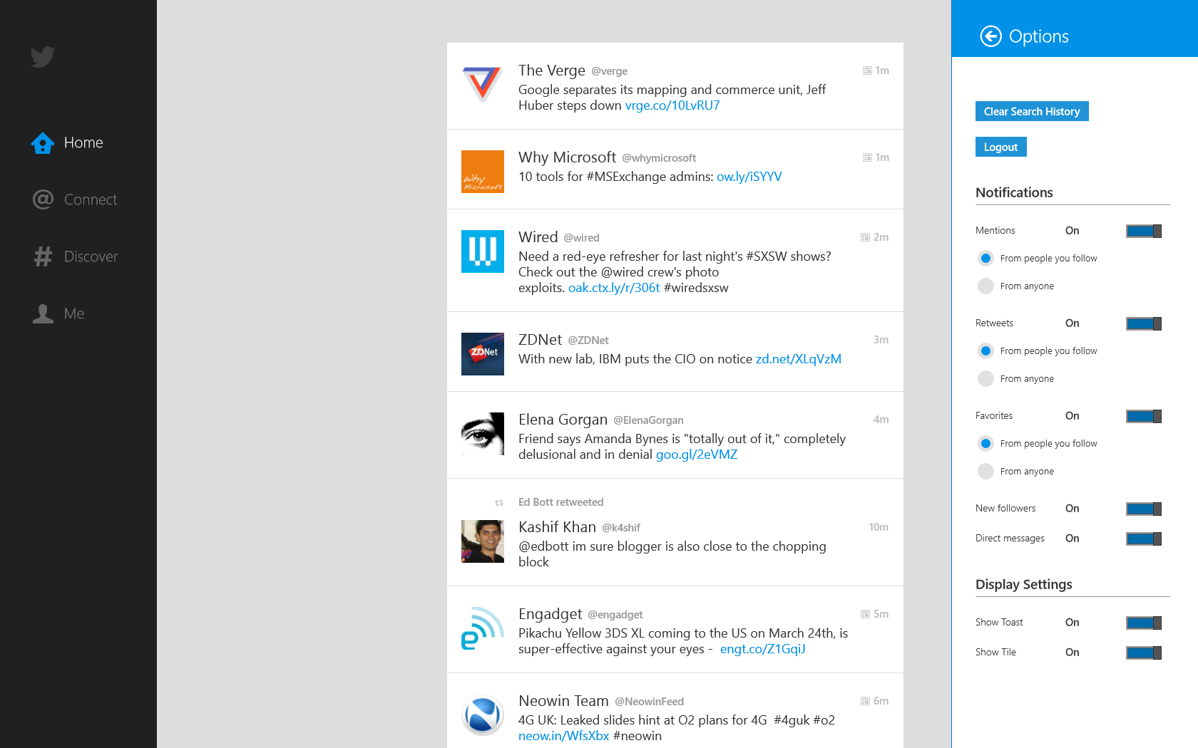Windows 8: microsoft details its twitter and facebook integration.