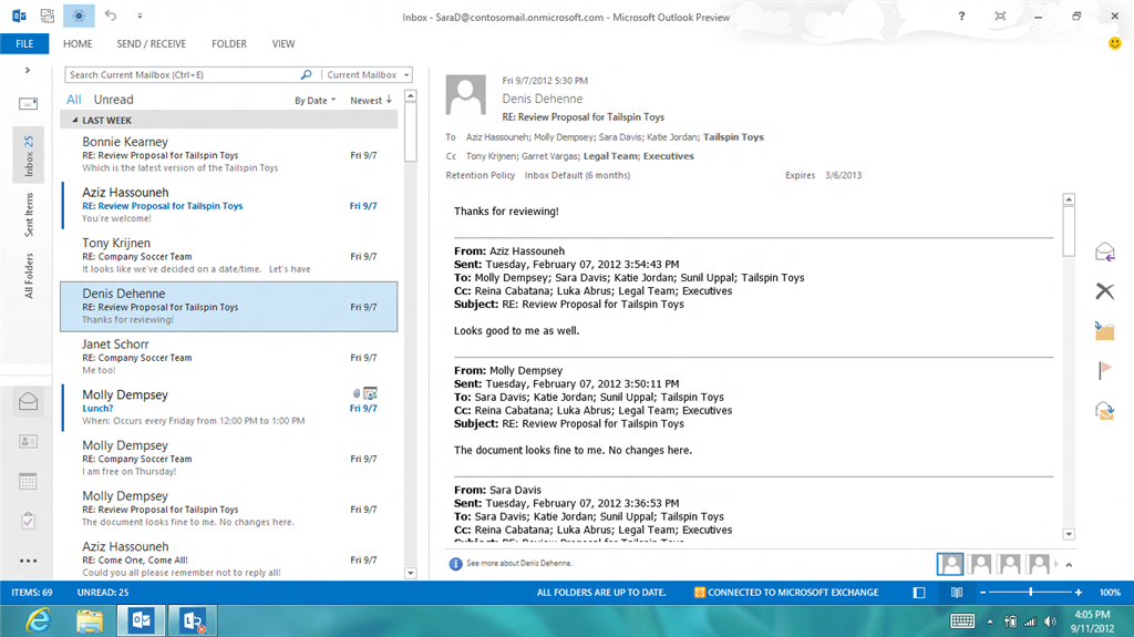 Windows 8's Outlook 2013 Boasts a Tablet-Adaptable Experience