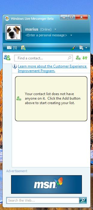 Download beta msn messenger.