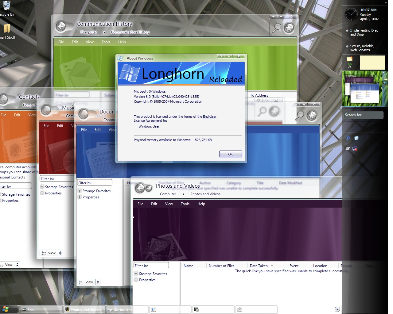Windows 'Longhorn' Resurrected and Available for Download