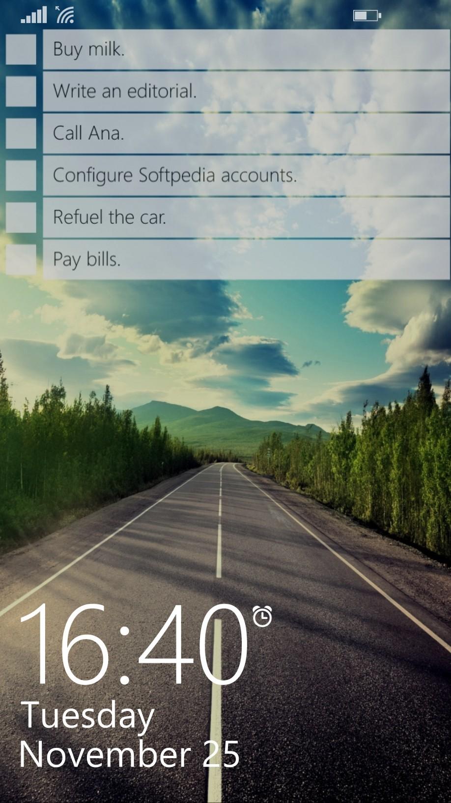 phone windows lockscreen app todo lock screen