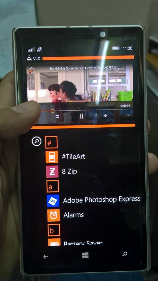 Lumia Camera/Apps Video streaming/App list ...