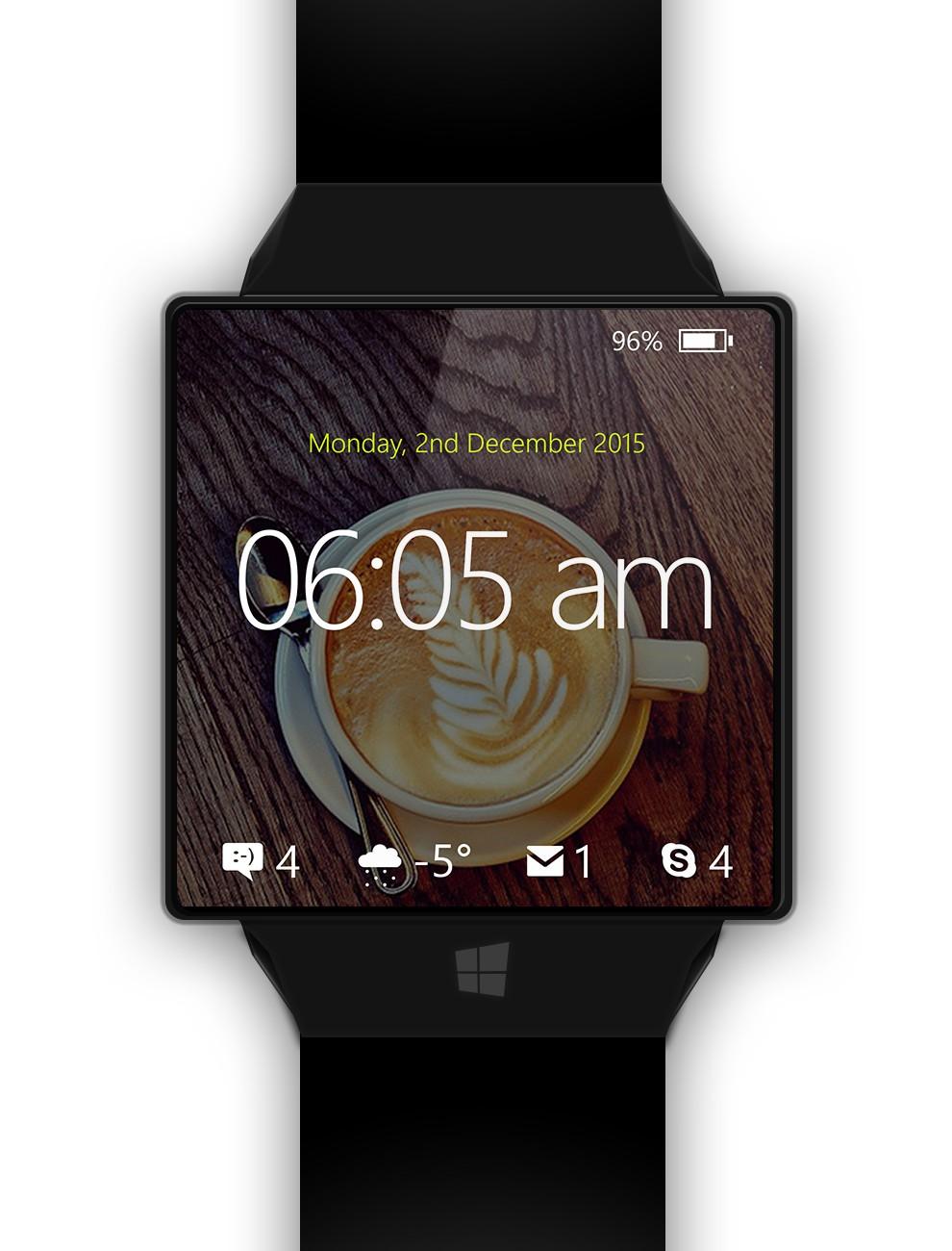 Windows Watch Concept Brings Cortana on Your Wrist