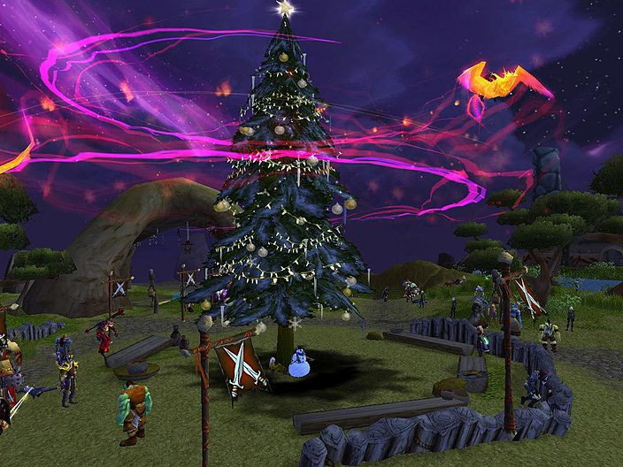 be careful with that phoenix or well all burn down - World Of Warcraft Christmas