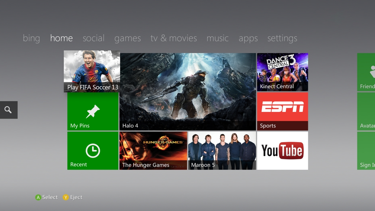 The Xbox 360s Interface Already Looks A Lot Like Windows 8