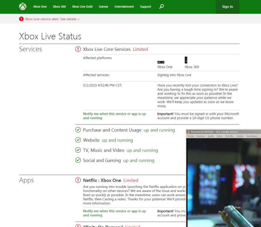 Xbox One and 360 Sign-In Process Is Down, Major Titles Affected